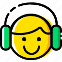 emoji, emoticon, face, listening icon