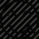 emoji, emoticon, face, silly