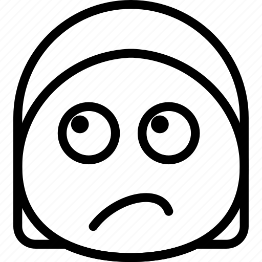 emoji, emoticon, face, sceptic icon