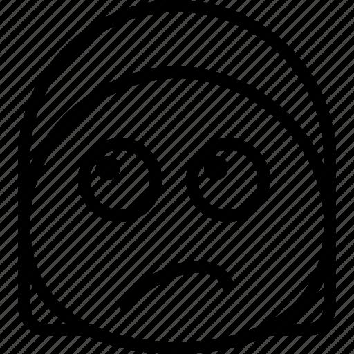 Emoji, emoticon, face, sceptic icon - Download on Iconfinder