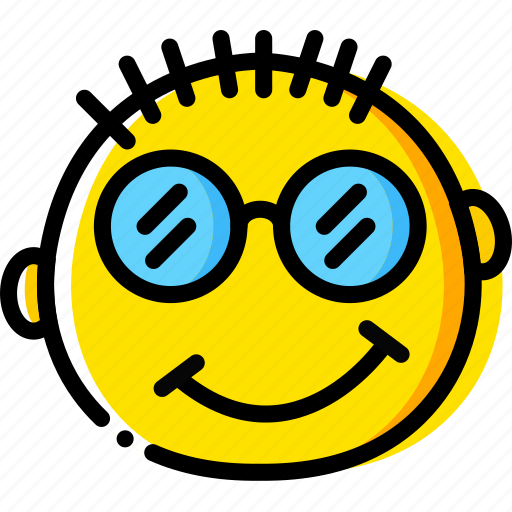 emoji, emoticon, face, nerd icon