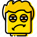 emoji, emoticon, face, tired icon