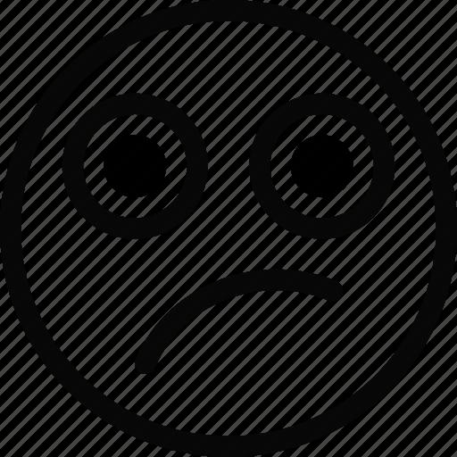 Doutbtful, emoji, emoticon, face icon - Download on Iconfinder