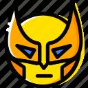 emoji, emoticon, face, wolverine