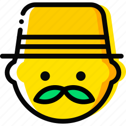 businessman, emoji, emoticon, face icon