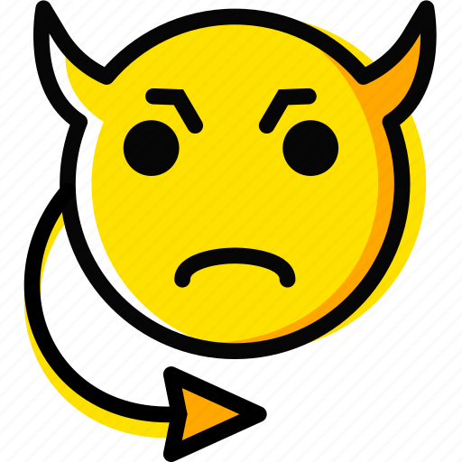 emoji, emoticon, evil, face icon