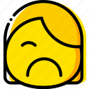 emoji, emoticon, face, sad icon