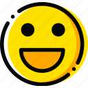 emoticon, face, emoji, happy