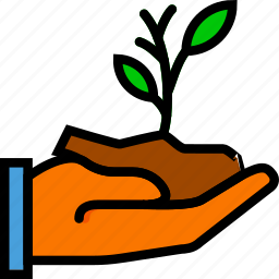 agriculture, farming, garden, give, nature, plant icon