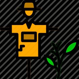 agriculture, farming, garden, nature, scarecrow icon