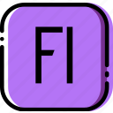adobe, extentions, file, flash, player, types icon
