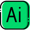 adobe, extentions, file, illustrator, types icon