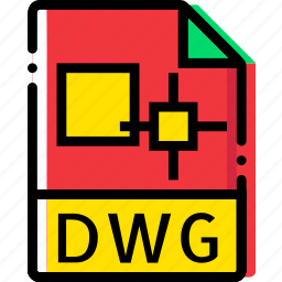 dwg, extentions, file, types icon