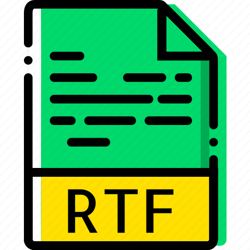 extentions, file, rtf, types icon