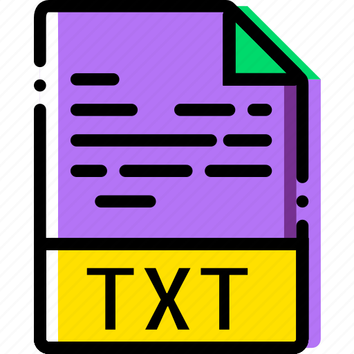 extentions, file, txt, types icon