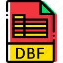 dbf, extentions, file, types icon