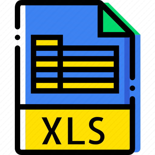 extentions, file, types, xls icon