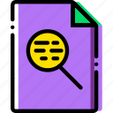 extentions, file, search, types icon