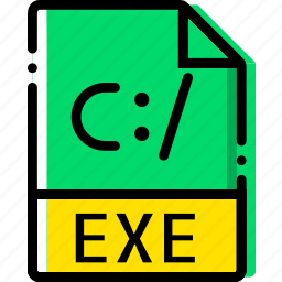 exe, extentions, file, types icon