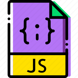 extentions, file, js, types icon