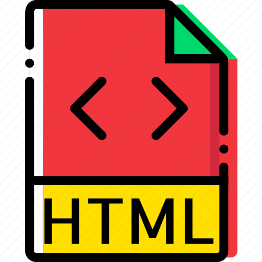 extentions, file, html, types icon