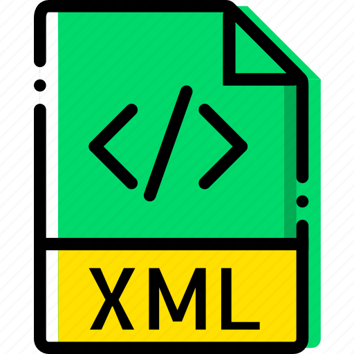 extentions, file, types, xml icon
