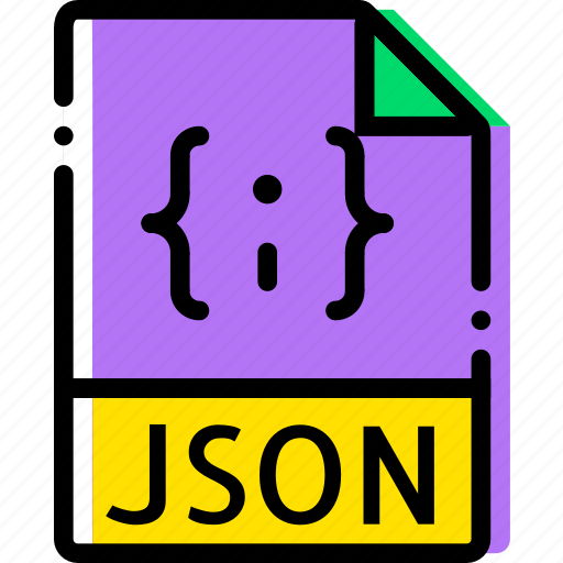extentions, file, json, types icon