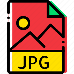 extentions, file, jpg, types icon