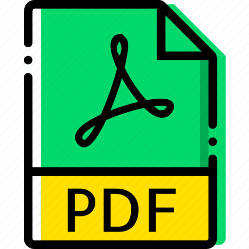 extentions, file, pdf, types icon