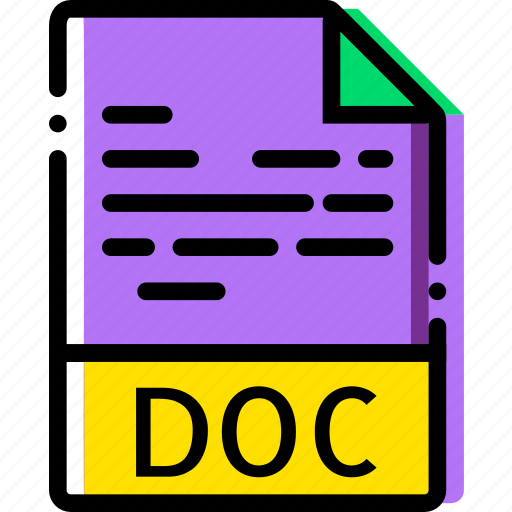 doc, extentions, file, types icon