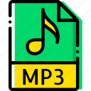 extentions, mp3, types icon