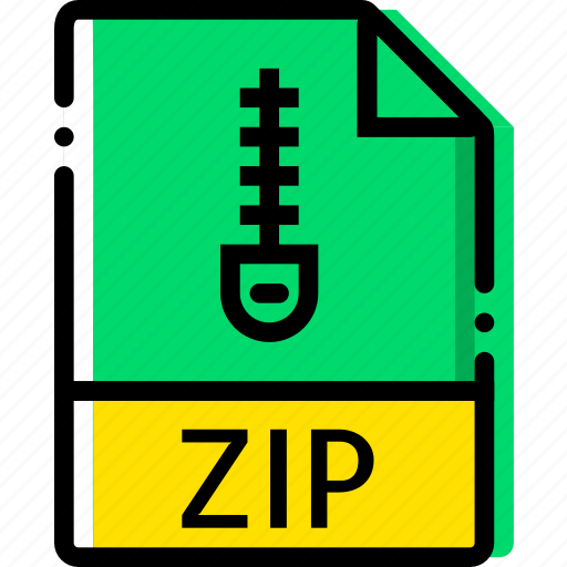extentions, file, types, zip icon