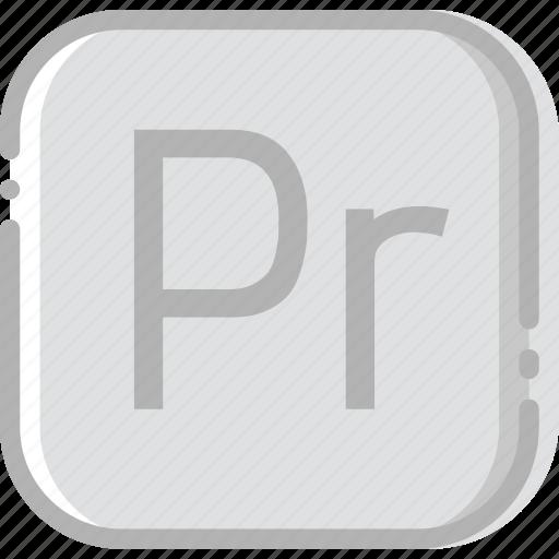 adobe, directory, document, file, premiere, pro icon