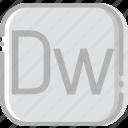 adobe, directory, document, dreamweaver, file icon
