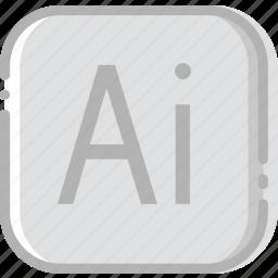 adobe, directory, document, file, illustrator icon