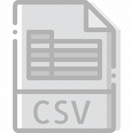 csv, directory, document, file icon