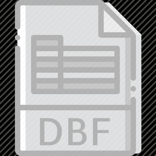 dbf, directory, document, file icon