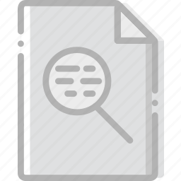 directory, document, file, search icon