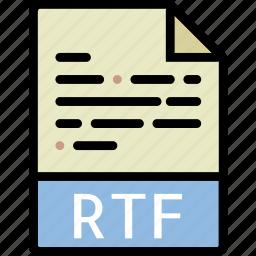directory, document, file, rtf icon