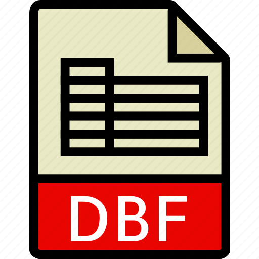 dbf, directory, document, file icon