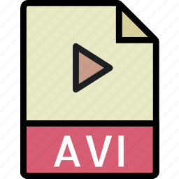 avi, directory, document, file icon