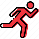 fit, fitness, running, work icon