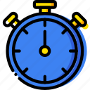 fit, fitness, timer, work icon
