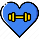 fit, fitness, gym, love, work icon
