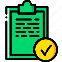 completed, fit, fitness, tasks, work icon
