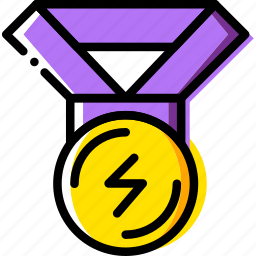 fit, fitness, medal, work icon