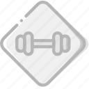 fitness, gym, sign, training icon