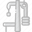 fitness, gear, gym, training icon