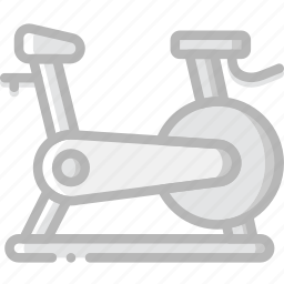 bicycle, fitness, gym, training icon