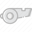 fitness, gym, training, whistle icon